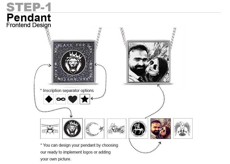 square pendant design