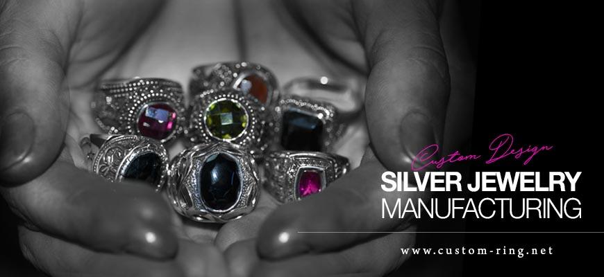 Custom Design Silver Jewelry Manufacturing