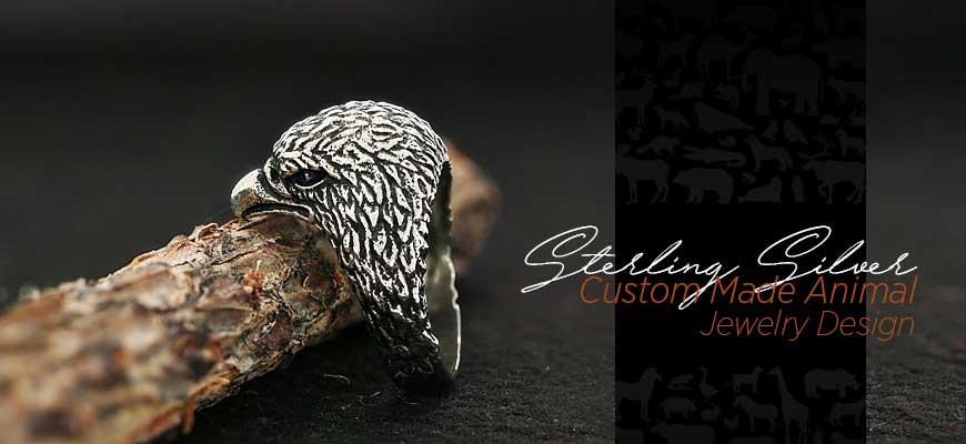 Custom Made Sterling Silver Animal  Jewelry Designs