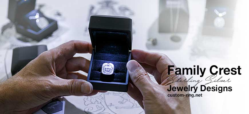 Custom Made Sterling Silver Family Crest Jewelry Designs