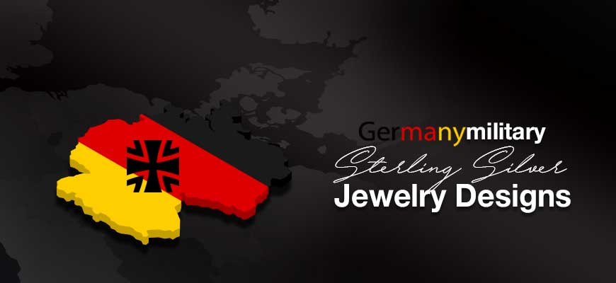 Custom Made Sterling Silver German Military Jewelry Designs