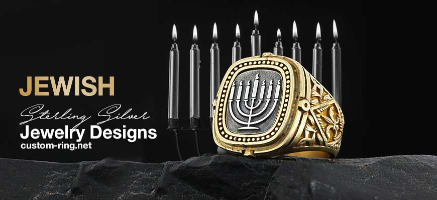 Custom Made Sterling Silver Jewish Jewelry Designs