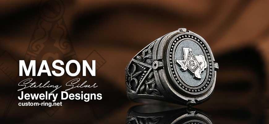 Custom Made Sterling Silver Masonic Jewelry Designs