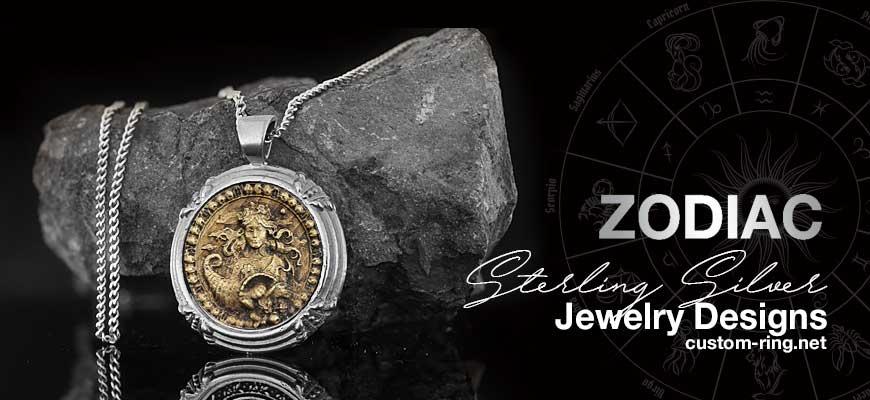 Custom Made Sterling Silver Zodiac Jewelry Designs