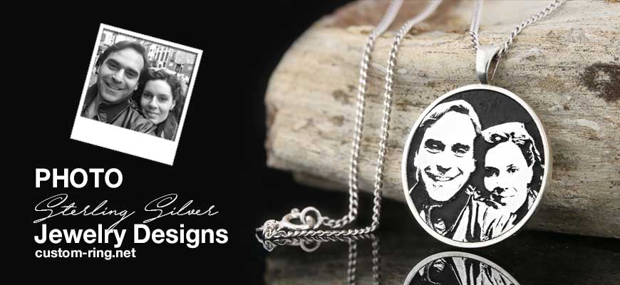 Sterling Silver Photo  Design Custom Made Jewelry