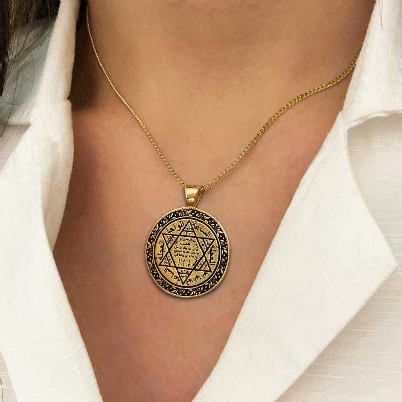 925 Sterling Silver Seal Of Solomon Pendant