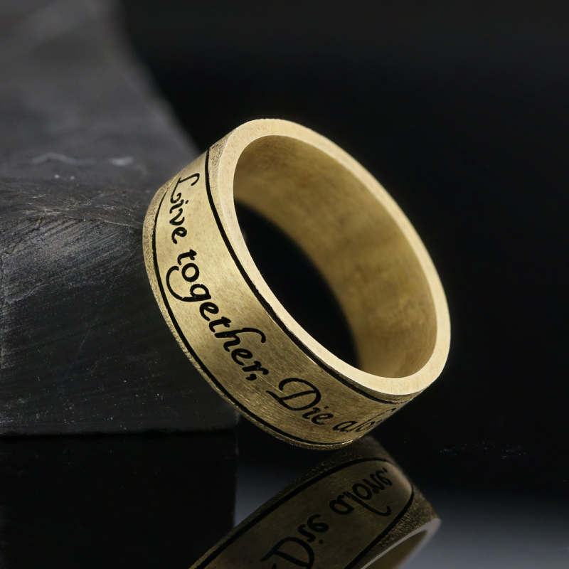 Live together Motto Band Ring