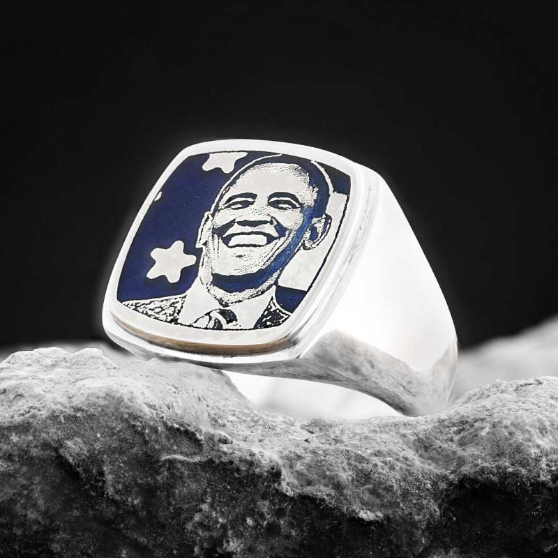 Barack Obama Photo Ring