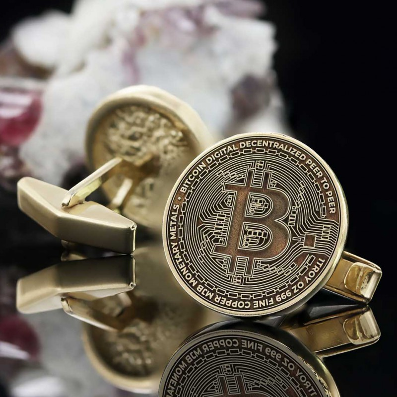 Bitcoin Souvenir Cufflink