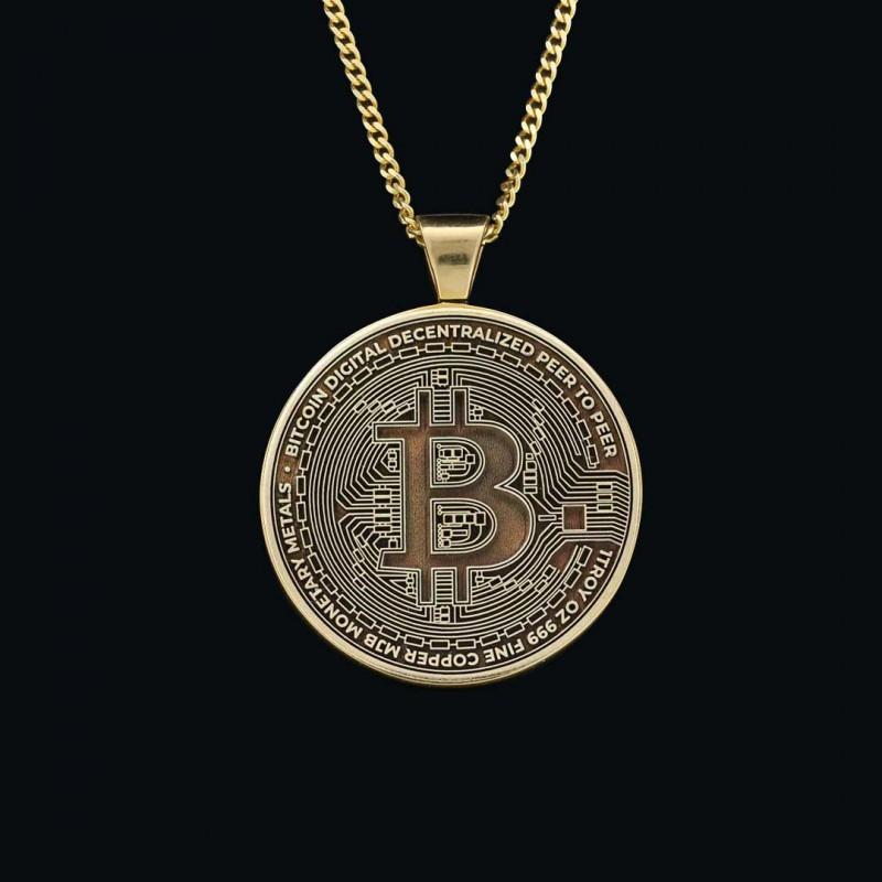 Bitcoin Souvenir Gold Pendant
