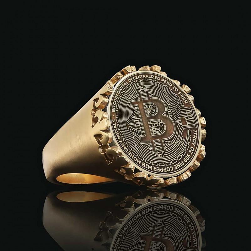 Bitcoin Souvenir Gold Ring