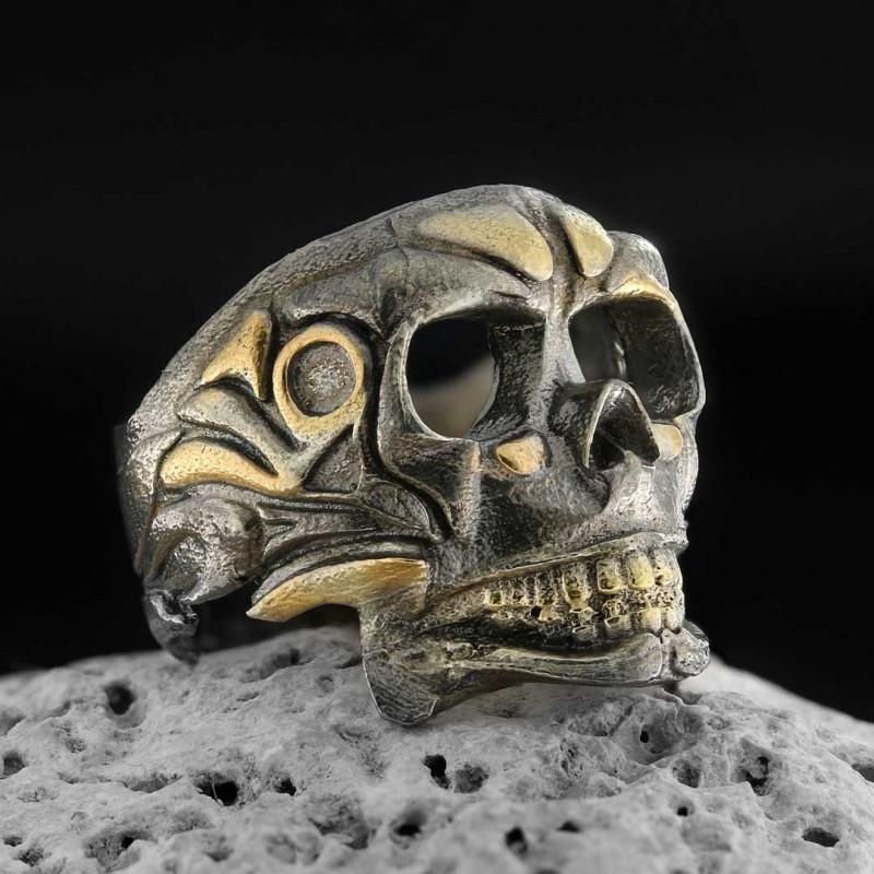 Filigree Skull Ring