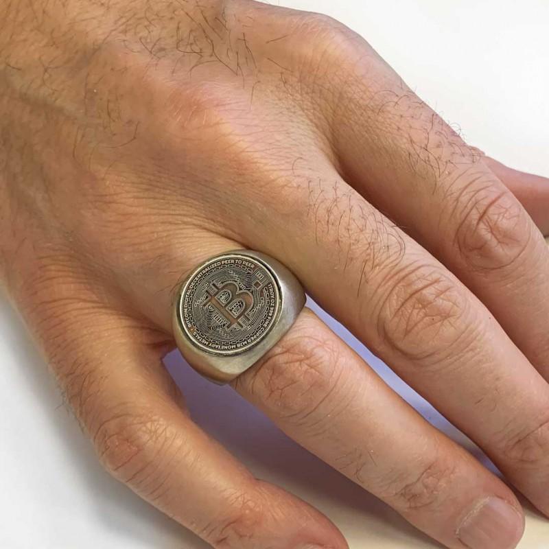 Gold Bitcoin Souvenir Ring