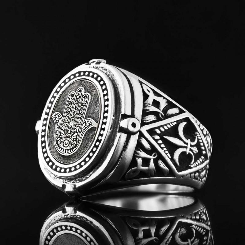 Hamsa Jewish Ring