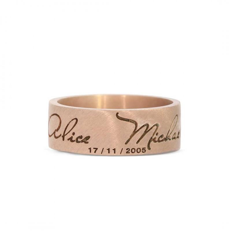 Anniversary Motto Band ring