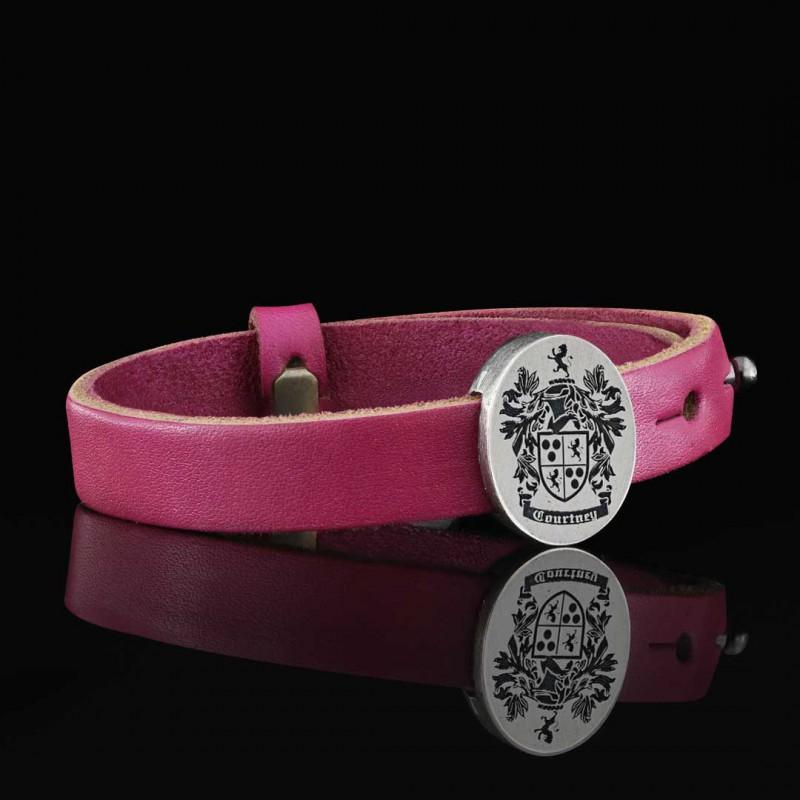 Oval Engraved Family Crest Bracelet