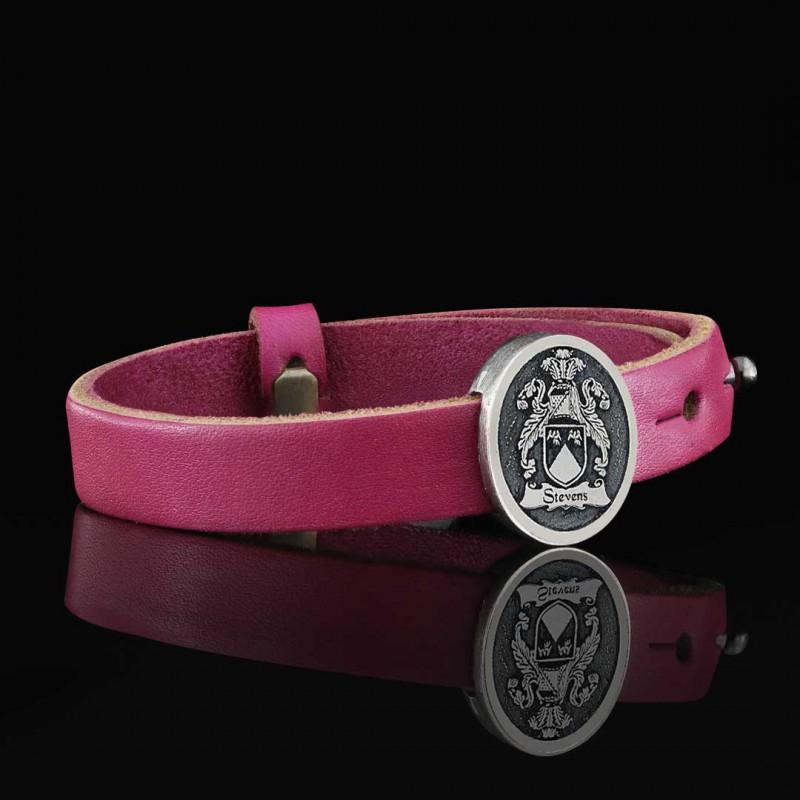 Oval Raised Family Crest Bracelet