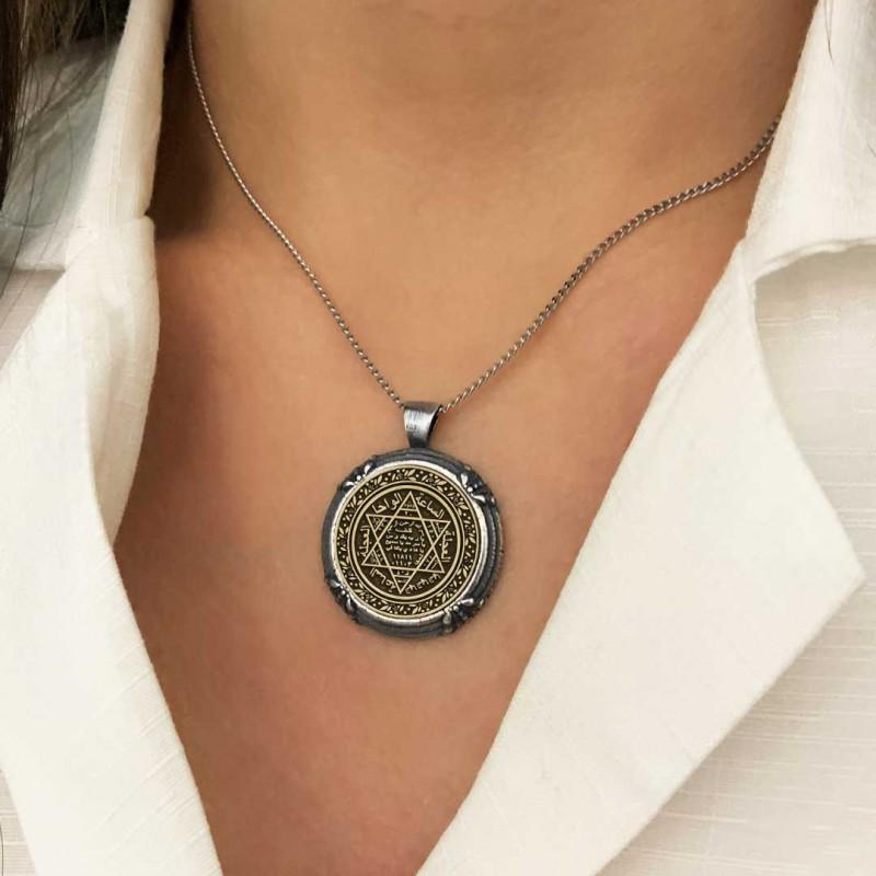 Seal Of Solomon Pendant 925 Sterling Silver