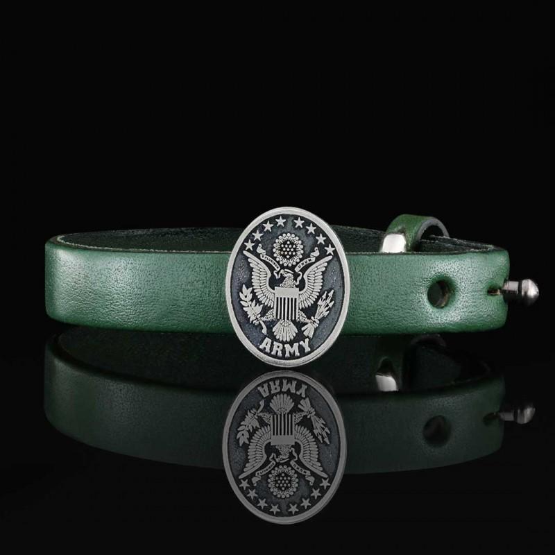 US Army Leather Bracelet