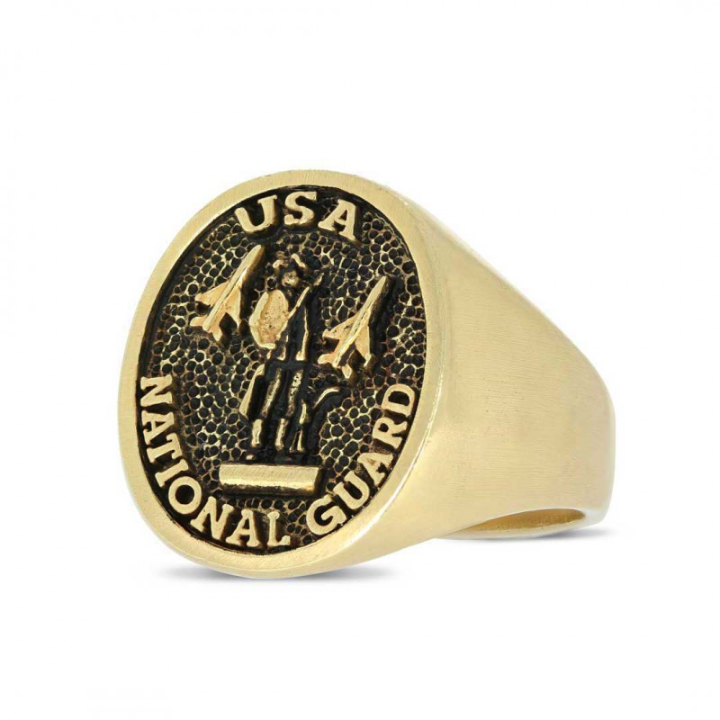 US National Guard Round Ring