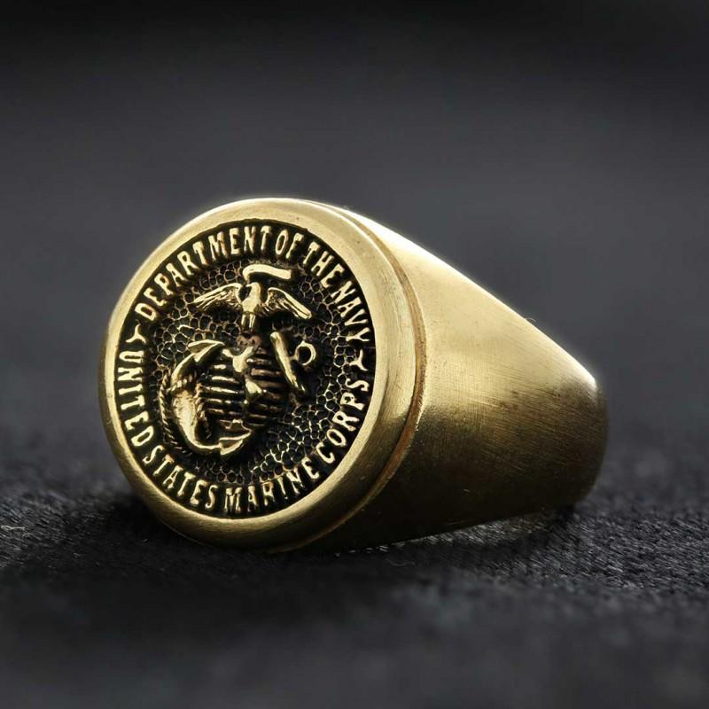 Us Marine Corps Round Shaped Navy Ring